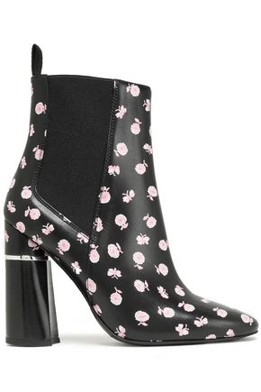 3.1 PHILLIP LIM Drum floral-print leather ankle boots