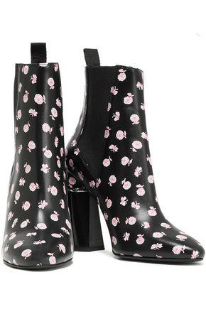 3.1 PHILLIP LIM Drum floral-print leather ankle boots