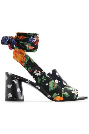 3.1 PHILLIP LIM Floral-print silk and leather sandals