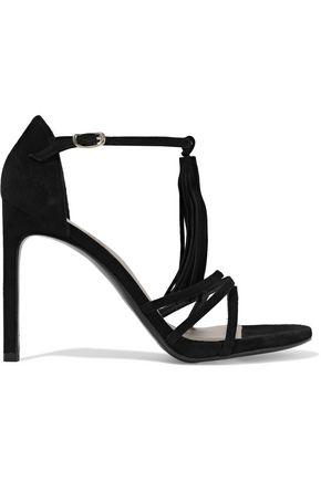 STUART WEITZMAN Tasseled suede sandals