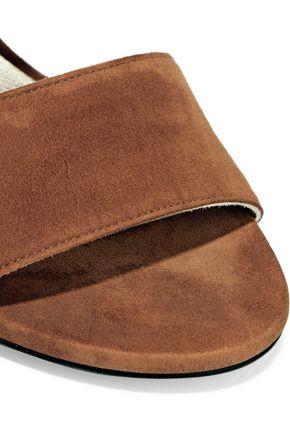 STUART WEITZMAN Suede slingback sandals