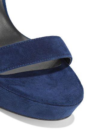 STUART WEITZMAN Suede platform sandals