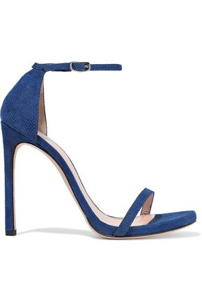 STUART WEITZMAN Nudist textured-suede sandals