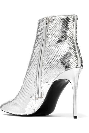 ALICE + OLIVIA Celyn sequined woven ankle boots