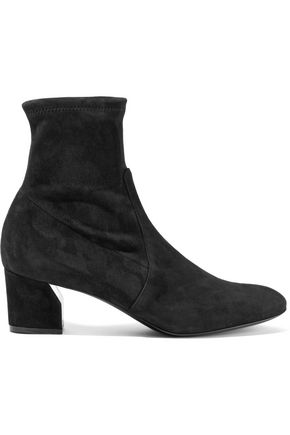 CASADEI Stretch-suede sock boots
