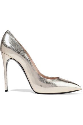 CASADEI Printed metallic leather pumps