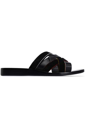 RAG & BONE Leather and suede slides