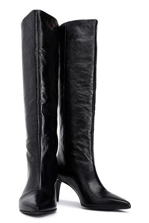 RAG & BONE Crinkled-leather boots