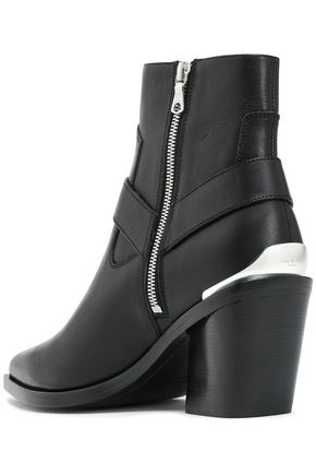 RAG & BONE Buckle-embellished leather ankle boots