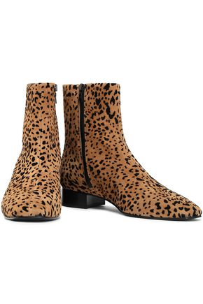 RAG & BONE Animal-print flocked suede ankle boots