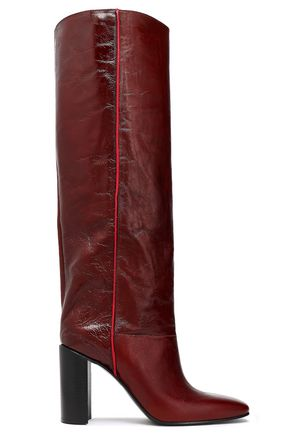 Crinkled Leather Knee Boots by Rag & Bone