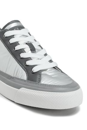 RAG & BONE RB Army Low leather-trimmed coated-shell sneakers