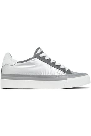 RAG & BONE RB Army Low leather-trimmed iridescent shell sneakers