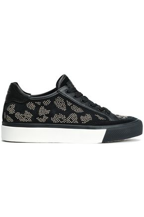 RAG & BONE Beaded suede sneakers