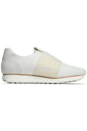 RAG & BONE Meatllic leather sneakers