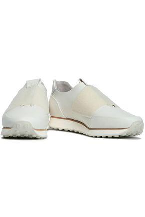 RAG & BONE Dylan strap-detailed leather slip-on sneakers