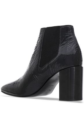RAG & BONE Crinkled patent-leather ankle boots