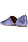 MIISTA Sue metallic leather point-toe flats