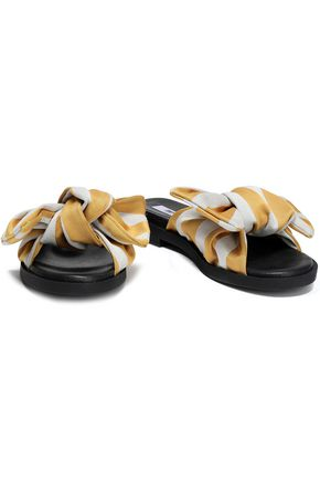 MIISTA Valerie bow-embellished satin slides