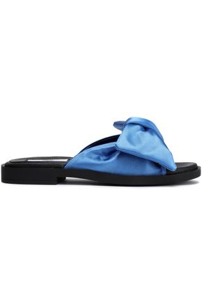 MIISTA Knotted satin slides
