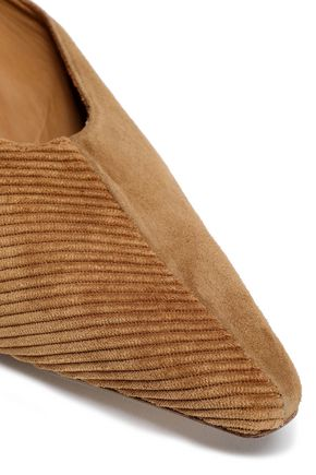 MIISTA Albertine corduroy and suede mules