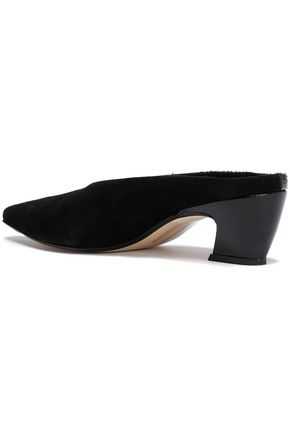 MIISTA Patent-leather and suede mules