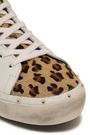 REBECCA MINKOFF Studded leopard-print calf hair and leather sneakers