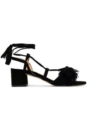 REBECCA MINKOFF Fringed suede sandals