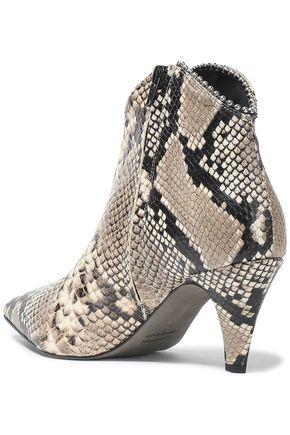 REBECCA MINKOFF Pamela snake-effect leather ankle boots