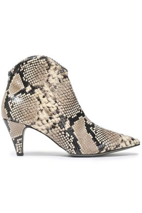REBECCA MINKOFF Pamela snake-effect leather ankle boots