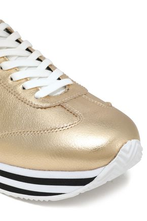 REBECCA MINKOFF Metallic leather sneakers
