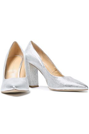 REBECCA MINKOFF Metallic leather pumps