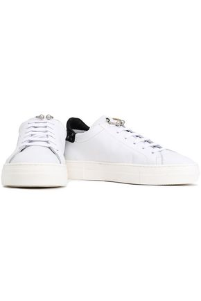 REBECCA MINKOFF Embellished leather sneakers