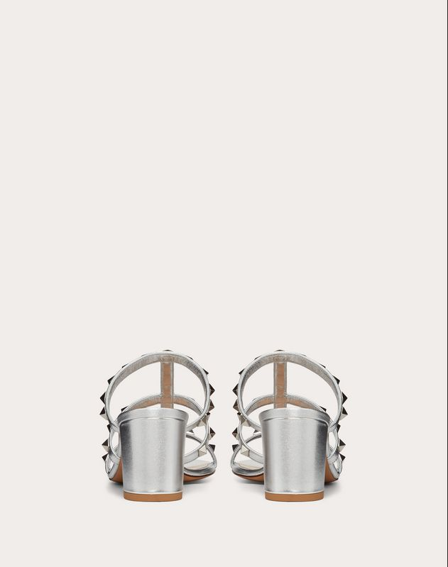 Rockstud Metallic Slide Sandal 60 mm