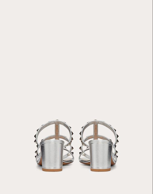 Металлизированные сабо Rockstud, каблук 60 мм