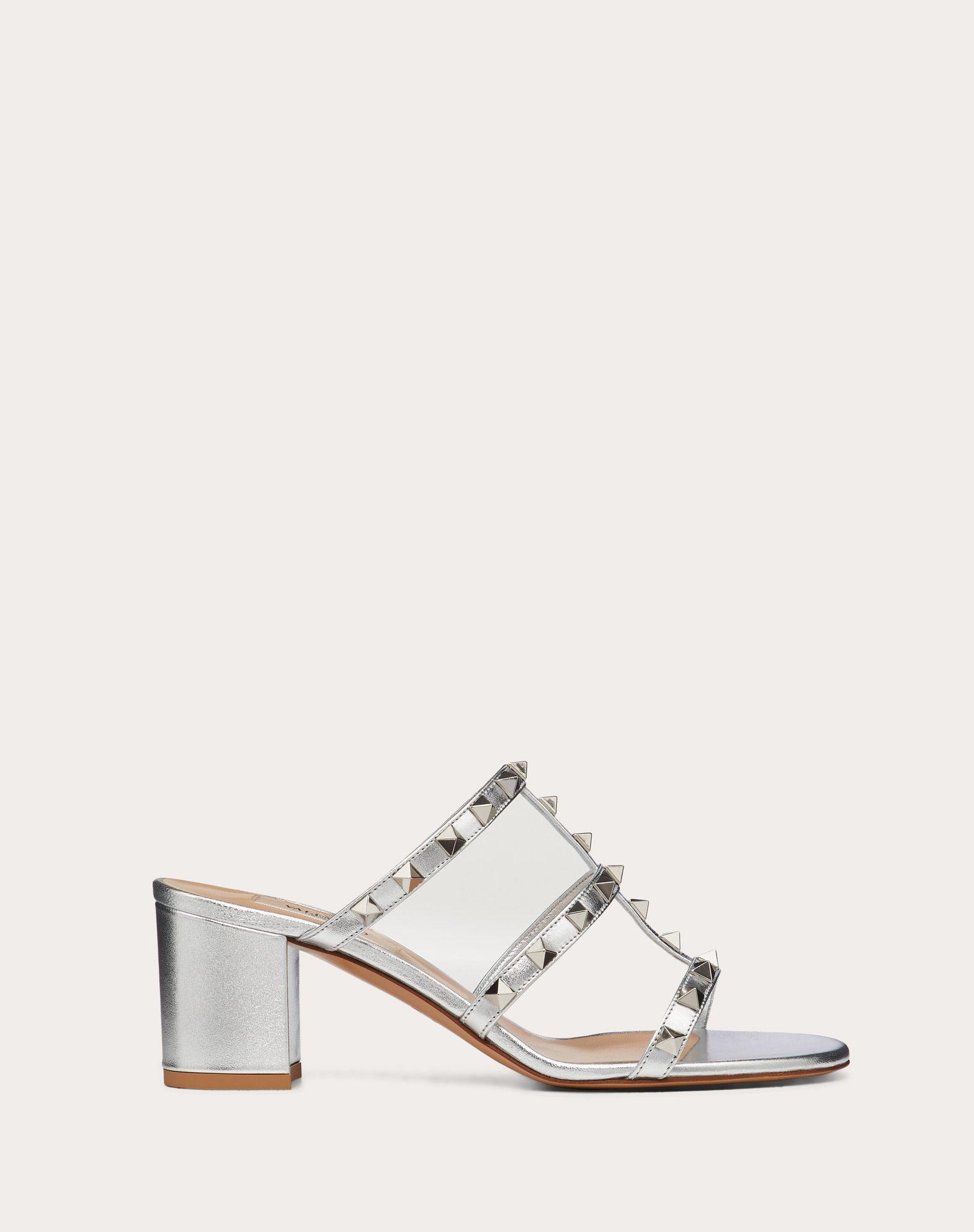 Rockstud Metallic Slide Sandal 60 mm
