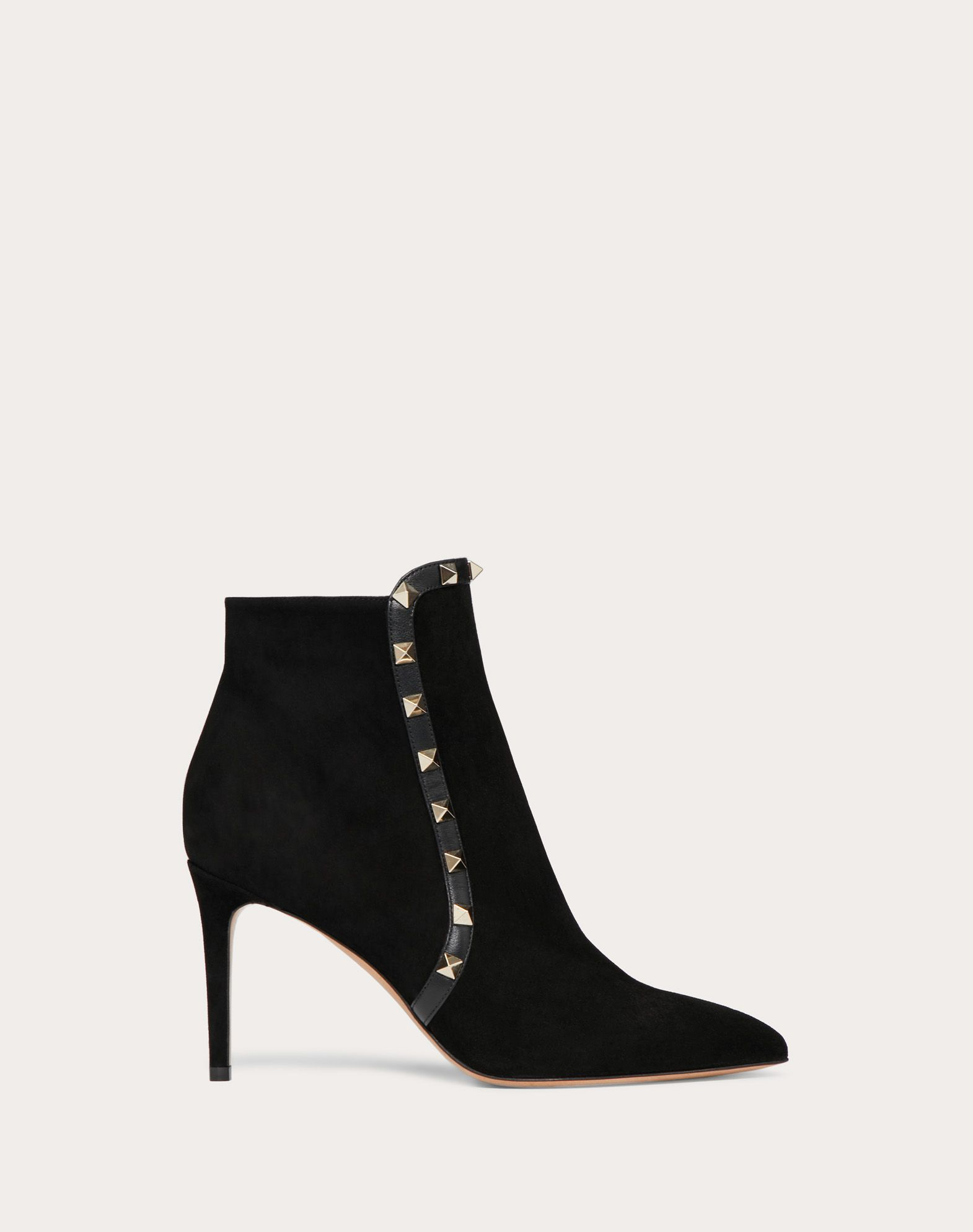 Bottines Rockstud en daim. Talon : 85 mm
