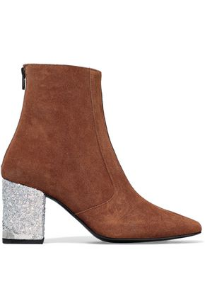 TOGA PULLA Embellished two-tone suede ankle boots