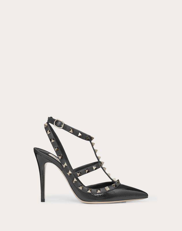 Rockstud Naplak Ankle Strap Pump 100  mm