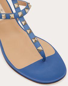 Rockstud Calfskin Leather Flip Flop Sandal