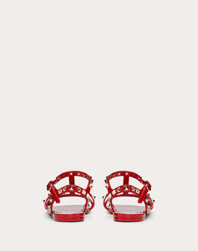 Rockstud flat rubber sandals