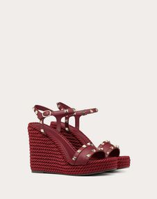 Wedge Sandal with Stud Details 115 mm