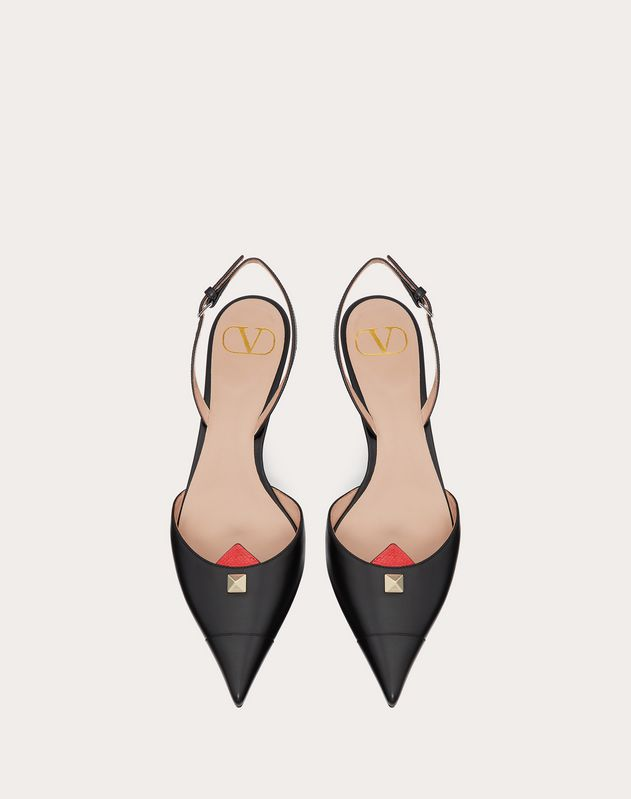 Calfskin pump with Karung detail 45 mm