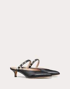 Rockstud Hype Calfskin Leather Mule 45 mm