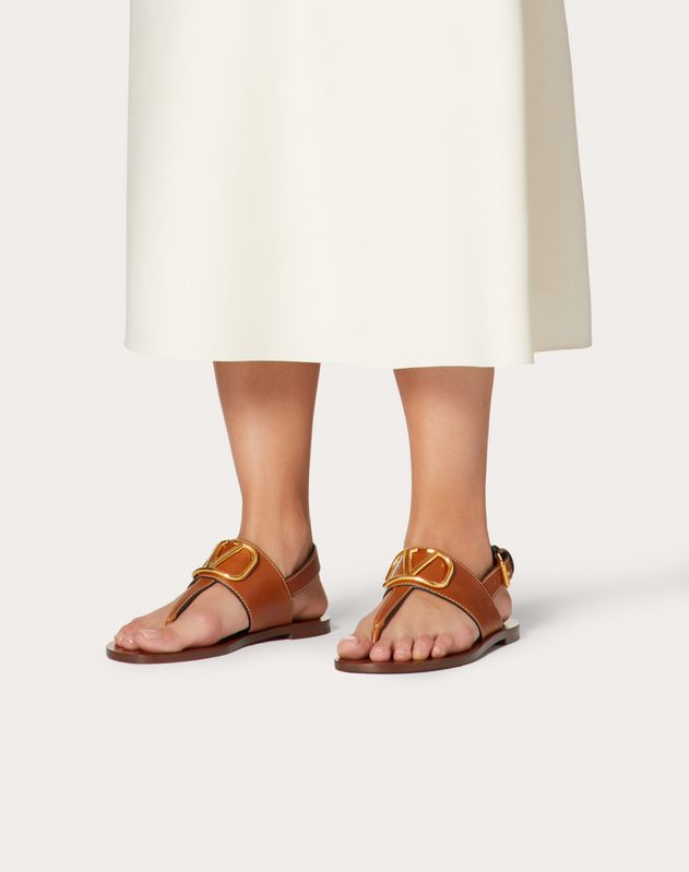 VLOGO Cowhide Flip Flop Sandal