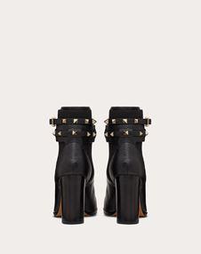 Rockstud Grainy Calfskin Ankle Boot 90 mm