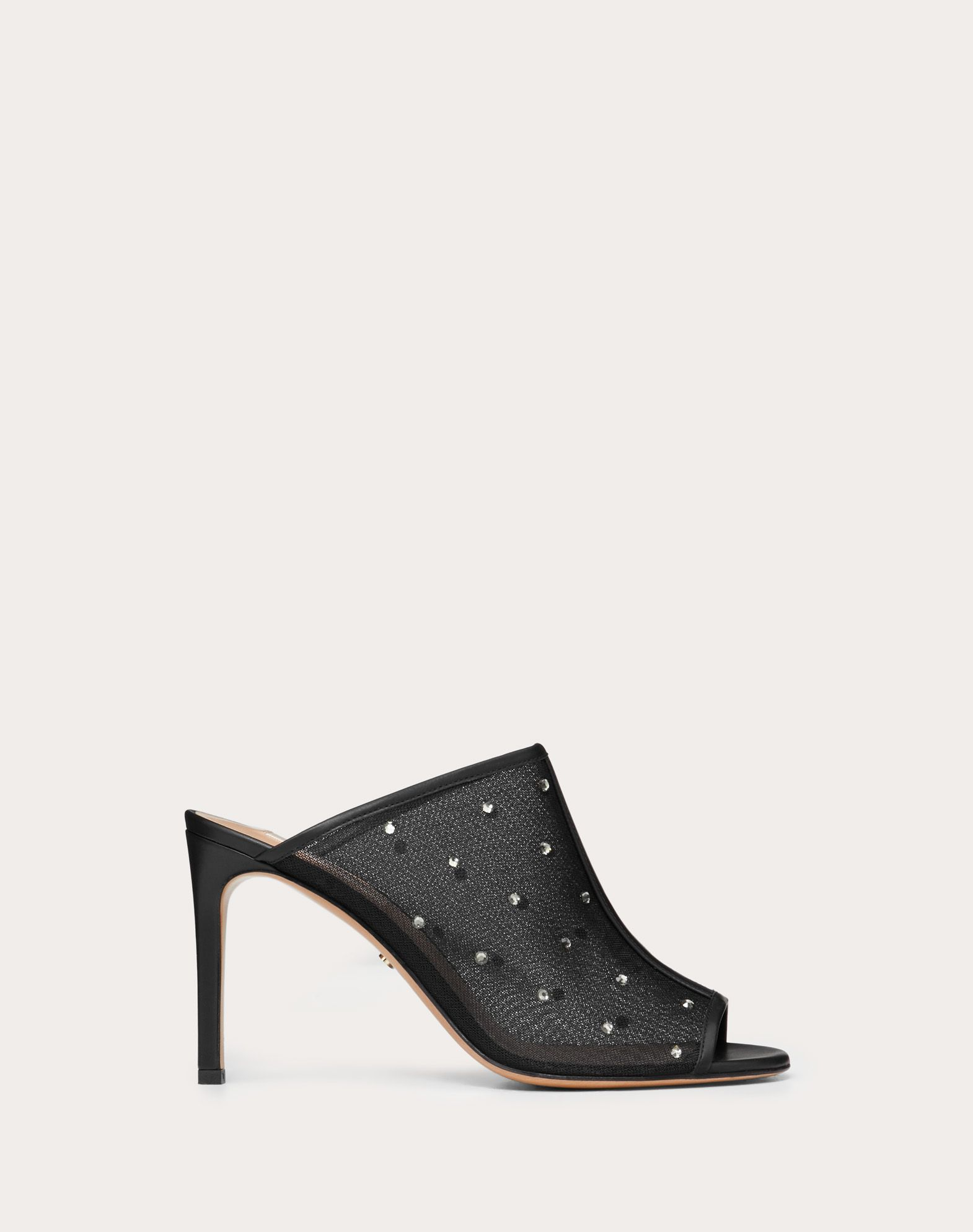 Mule in mesh and strass 90 mm