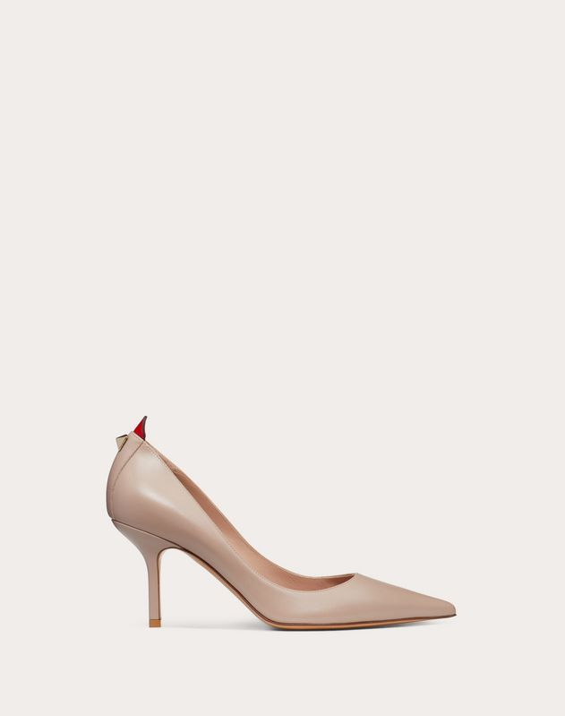 Calfskin pump with Karung detail 80 mm