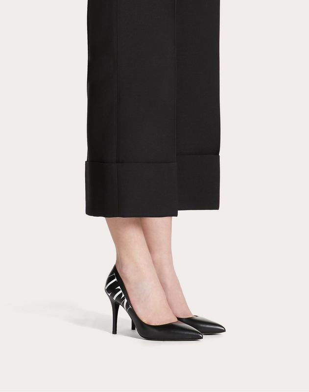VLTN calfskin pump with contrasting print 90 mm
