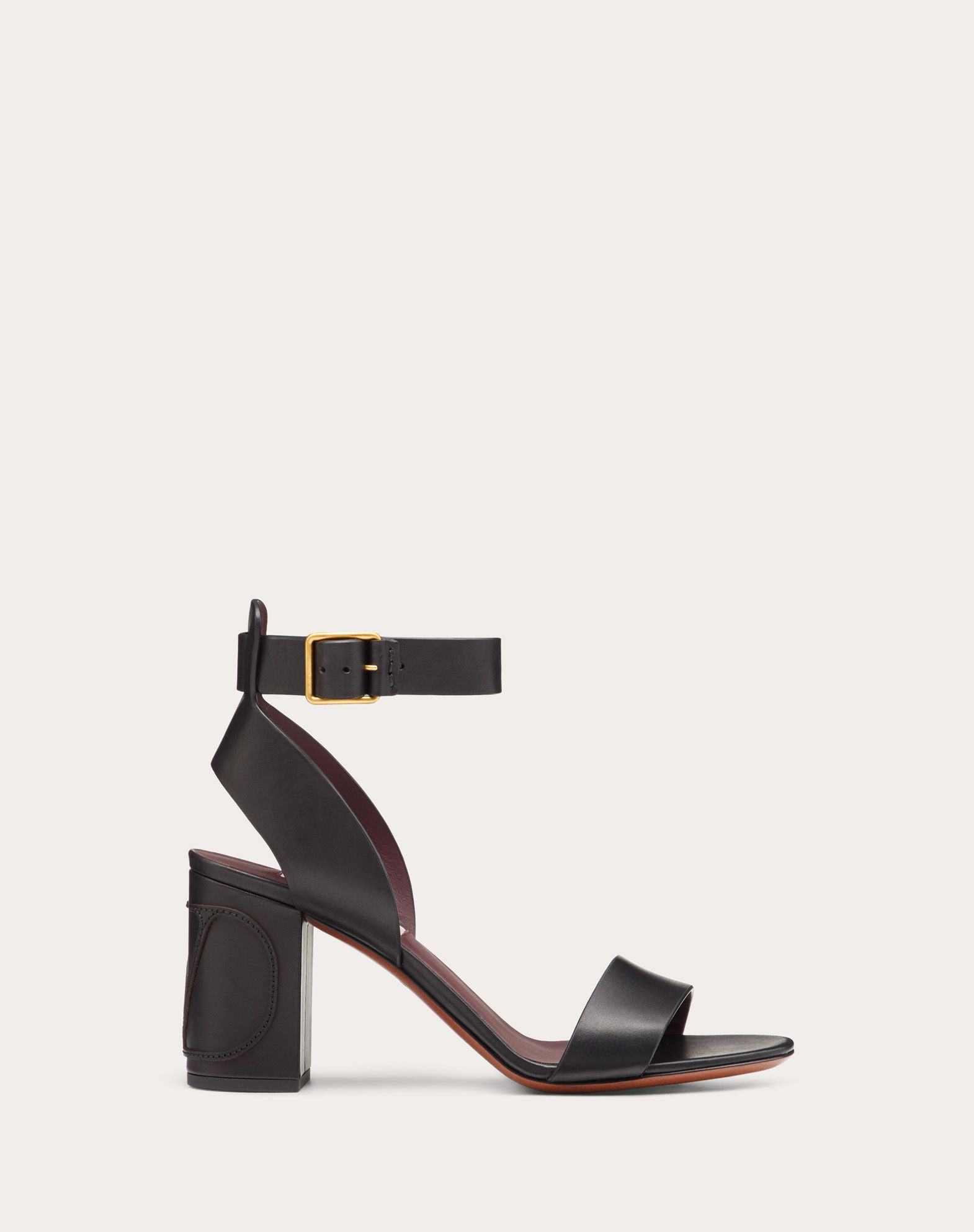 VLOGO Cowhide Sandal 80 mm